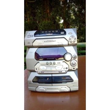 Wieża Panasonic SA-AK27 zmieniarka 5 płyt CD