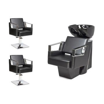 2 x Fotel Fryzjerski + Myjnia Fryzjerska VERDE