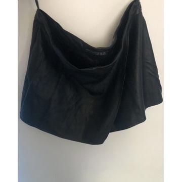Spodenki z eko skóry asymetryczne spódnico spodnie