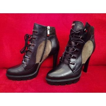 Carinii buty botki 37 b4525 czarny