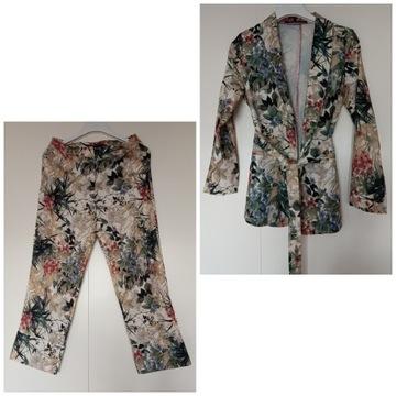 Komplet marynarka spodnie kwiaty S/M
