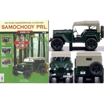 GAZ 67B Samochody PRL Hachette 1:24