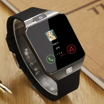 Zegarek smart watch z ekranem dotykowym dz09 z kam
