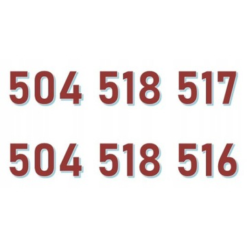 504 518 517 + 504 518 516 ORANGE ZŁOTY NUMER
