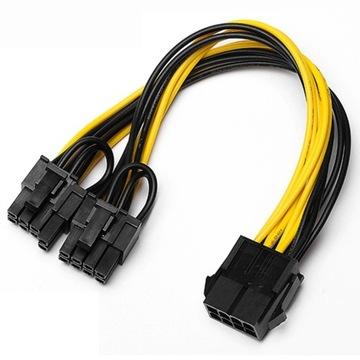 KABEL ROZDZIELAJĄCY PCI-E 8 PIN do 2 x 6+2 PIN