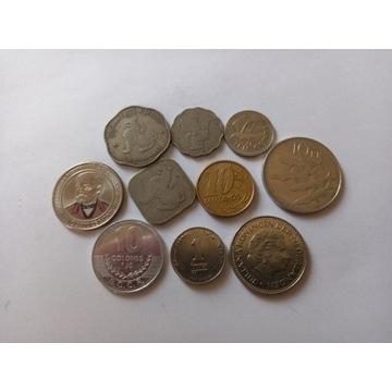 Zestaw monet świat  10 sztuk
