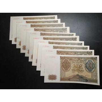10x 100 złotych 1941 r. Generalne Gubernatorstwo