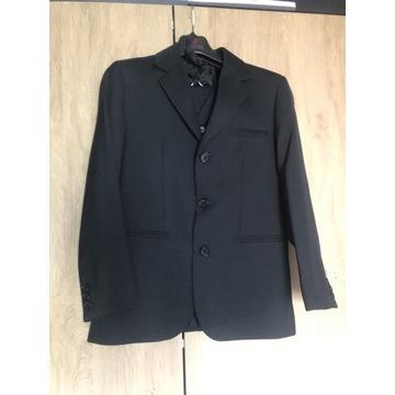 Czarny garnitur komplet dla chłopca roz. 140