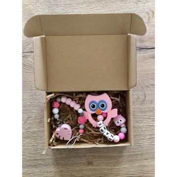 Zestaw - zawieszka i gryzak prezent  niemowle