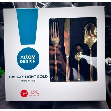 Komplet sztućców ALMOT Galaxy Light Gold