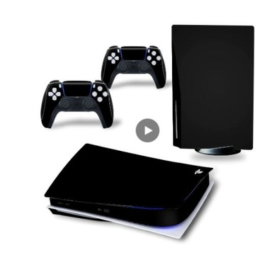 skin naklejka skórka Playstation 5 Bluray czarna +