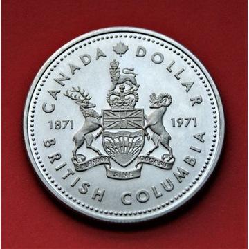 1 Dolar 1971 r. -  Kolumbia Brytyjska   srebro