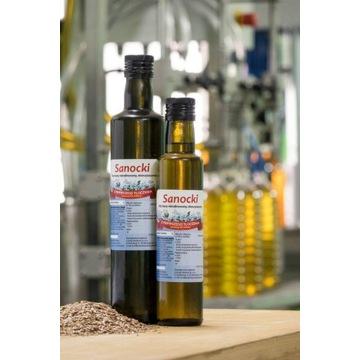 Olej lniany 0,25l tłoczony na zimno Oleje Sanockie