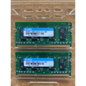 Pamięć RAM do NAS Asustor 2 x 1GB DDR3 L