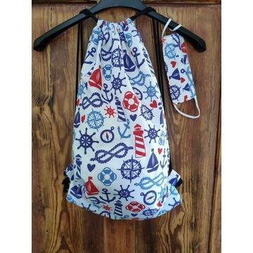 Plecak worek bawełniany maseczka gratis!! ZESTAW!