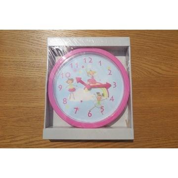 Zegar ścienny do pokoju dziecięcego z wróżkami