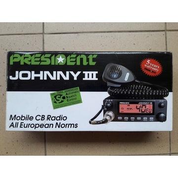 CB Radio President Johnny 3 iii + SIRIO ML 145
