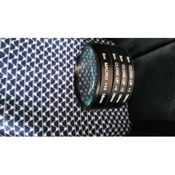 Zestaw soczewek Makro 58mm +1,+2,+4,+10