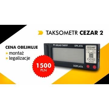 Taksometr Cezar 2 / Taksometry Warszawa / Montaż