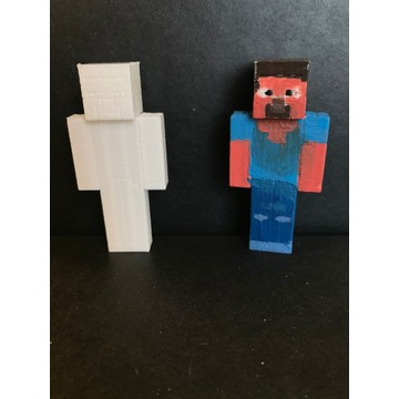 Steve z minecrafta - wydruk 3D