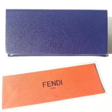 FENDI - Oryginalne Niebieskie etui na okulary