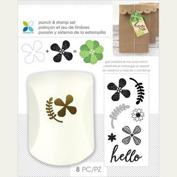 Zestaw dziurkaczy i stempli - Kwiaty