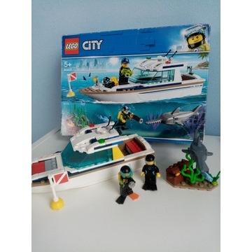 Lego city 60221 jacht motorówka