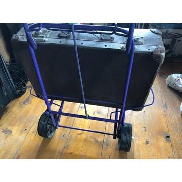 Wózek bagażowy składany na walizkę kosz torbę
