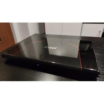 Laptop MSI GE 70, windows 10, wydajny, gameingowy,