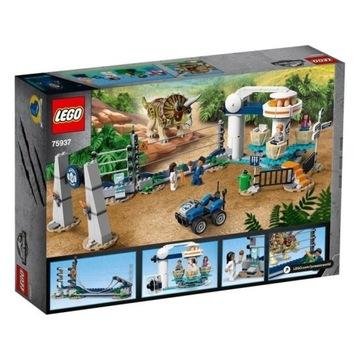 LEGO Jurassic World-Atak triceratopsa 75937 OKAZJA