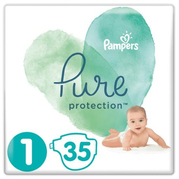 Pampers Pure Protection Newborn Rozmiar 1 35 szt.