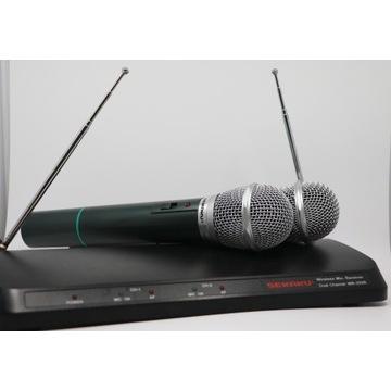 Zestaw 2 kanałowy  mikrofony bezprzewodowe Sekaku