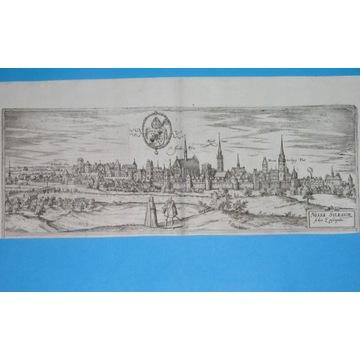 1588 ORYGINAŁ NYSA NEISSE ŚLĄSK Braun Hogenberg