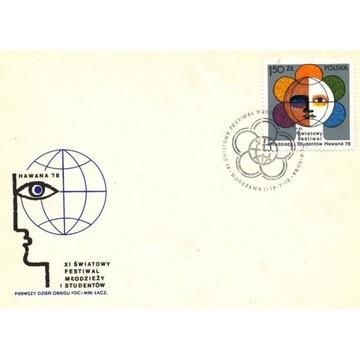 1978 XI Światowy Festiwal Młodzieży i Studentó FDC