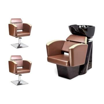 2 x Fotel Fryzjerski + Myjnia Fryzjerska NEO