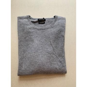 Massimo Dutti kaszmirowy męski sweter 100% kaszmir