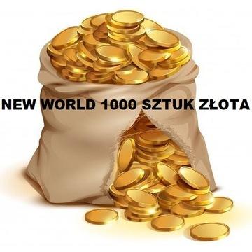 NEW WORLD gold/złoto 1000 sztuk - SERWER MAYDA