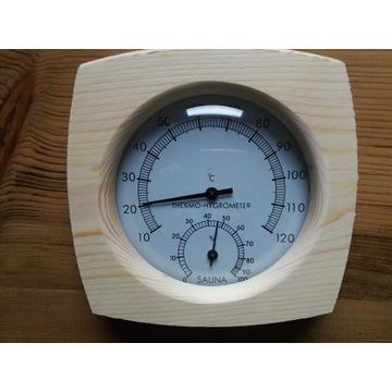 Termometr i higrometr do sauny drewno