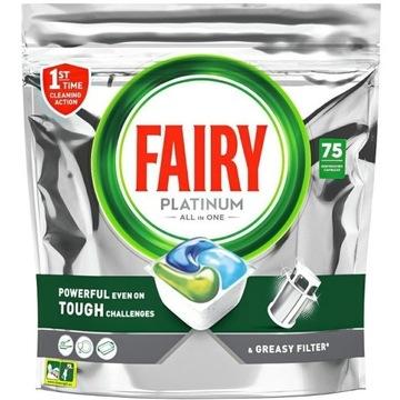 Fairy Kapsułki do zmywarki Platinum  75 sztuk
