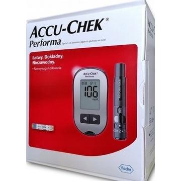 Glukometr Accu-Chek Performa + 10 pasków - NOWY!