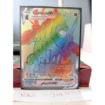 Coalossal VMax Rainbow 189/185 M/NM Vivid Voltage