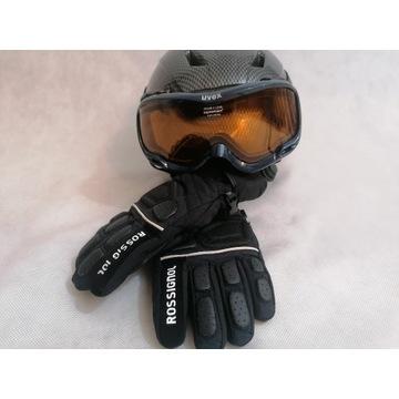 Kask narciarski ACK Gogle Uvex supravision i rękaw