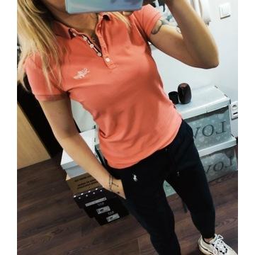 Pomarańczowa koszulka polo Tommy Hilfiger S