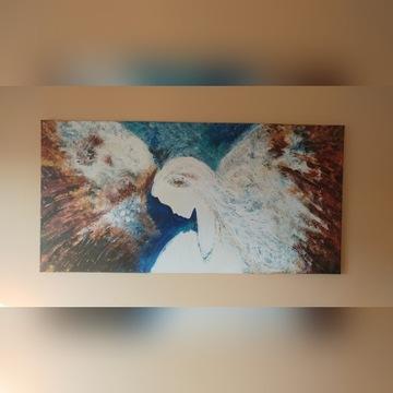 Anioł olej 100x50 cm