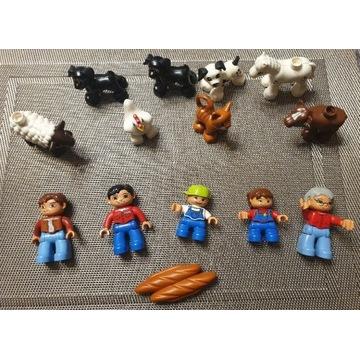 Duplo figurki + zwierzątka 14sztuk.
