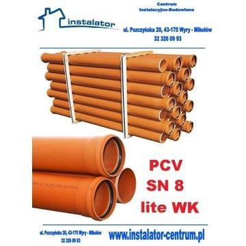 Rura z uszczelką 160x4,7 mm/ 3m PVC LITA SN8  WK