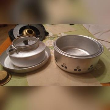 Sprzedam kocher turystyczny-naczynia, kuchenka