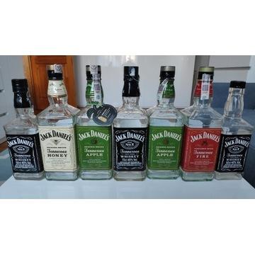 Puste butelki J. Daniels, Johny W., Ballantines