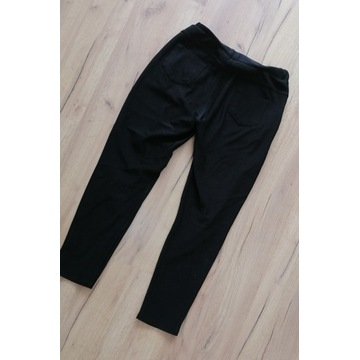 legginsy spodnie czarne 3/4 używane noszone fetysz