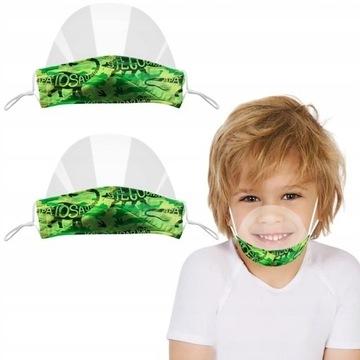 2szt Mini przyłbica dzieci ochronna na nos i usta